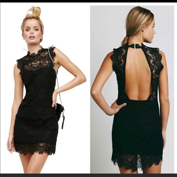 Free People Dresses & Skirts - NWT•Free People• Daydream Bodycon Lace Slip•Large